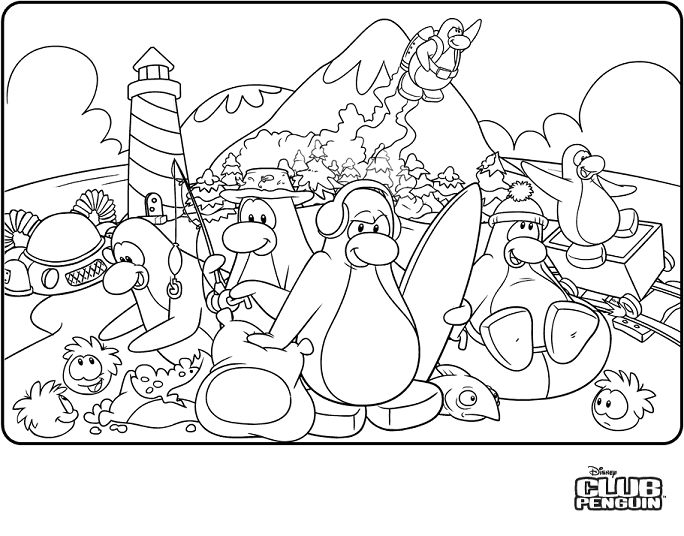 Coloriage club penguin humoristique dessin gratuit imprimer - Club penguin gratuit ...