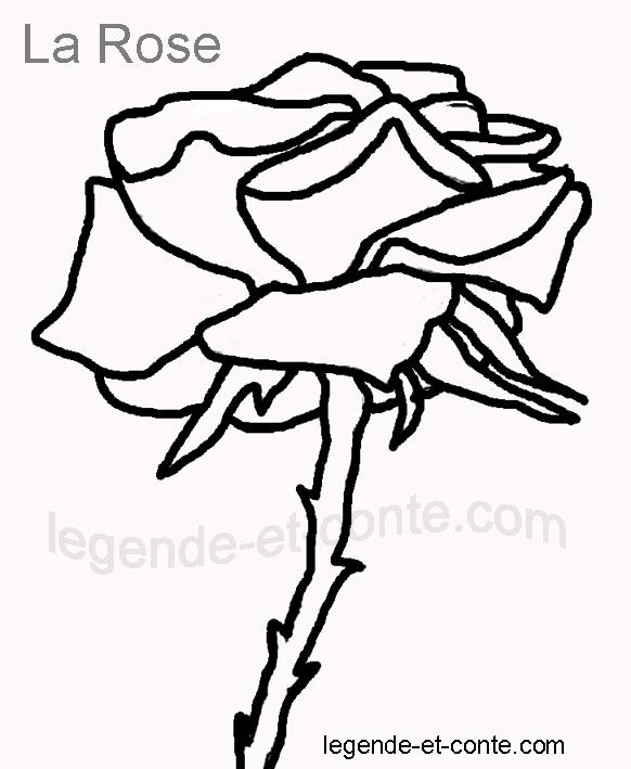 tlchargerimprimer - Dessin De Rose A Imprimer