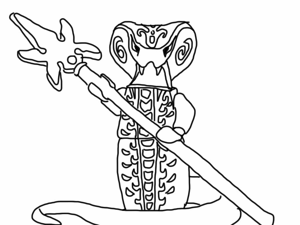 dessin a imprimer ninjago serpent