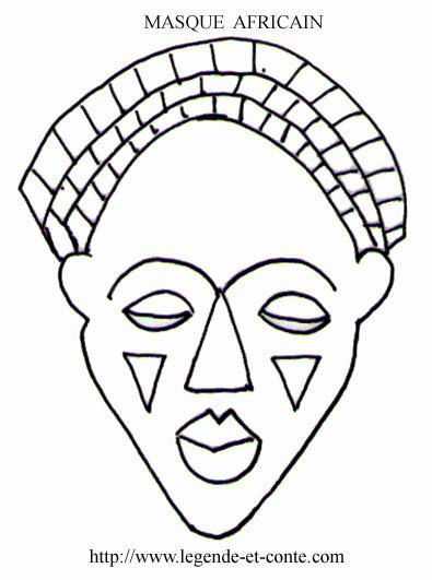 masque africain a decouper