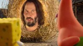 Le film Spongebob: Éponge en fuite avec Keanu Reeves