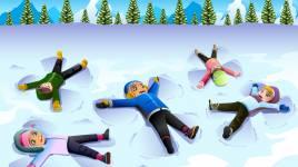 Sports d'hiver: luge, ski, snowboard, patinage