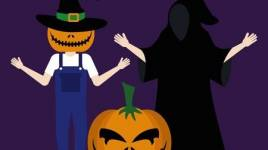 Le Halloween: Des bonbons ou un sort et déguisement