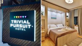 Un hôtel Trivial Pursuit où le confort et la facture dépendent des bonnes réponses!