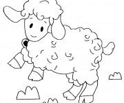 Coloriage dessin  Agneau 19