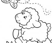 Coloriage dessin  Agneau 9