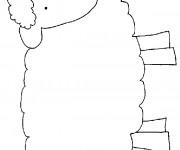 Coloriage et dessins gratuit Agneau en souriant à imprimer