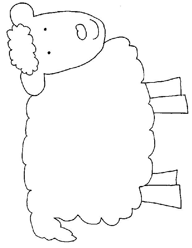 Coloriage et dessins gratuits Agneau en souriant à imprimer
