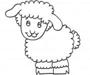 Coloriage et dessins gratuit Dessin d'un agneau à imprimer