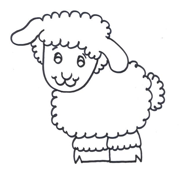 Coloriage dessin d 39 un agneau dessin gratuit imprimer - Dessin agneau ...