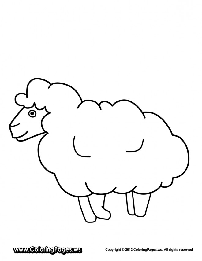 Coloriage et dessins gratuits Mouton à imprimer
