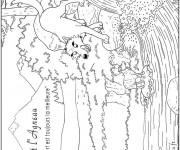Coloriage Un agneau et un loup
