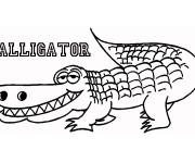 Coloriage dessin  Alligator 16