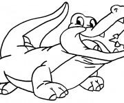 Coloriage dessin  Alligator 20