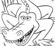 Coloriage dessin  Alligator 3