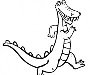 Coloriage dessin  Alligator 5
