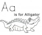 Coloriage dessin  Alligator 6