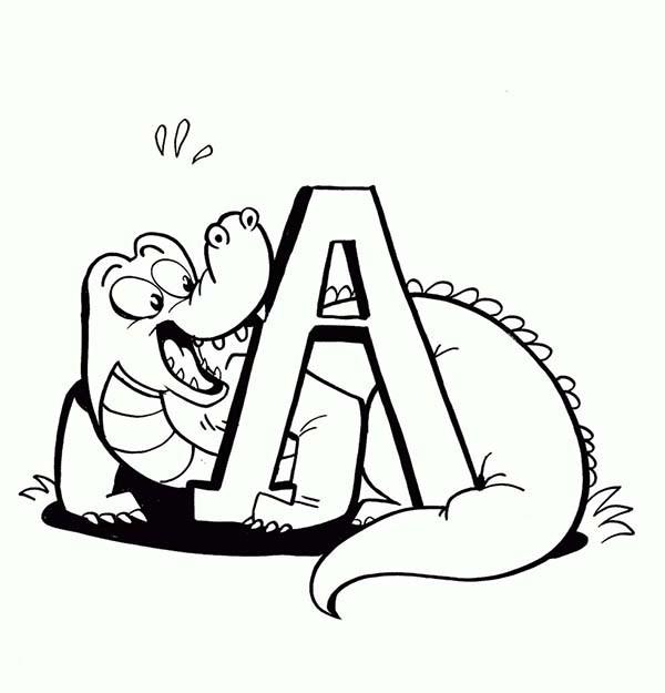 Coloriage et dessins gratuits Alligator aimable à imprimer