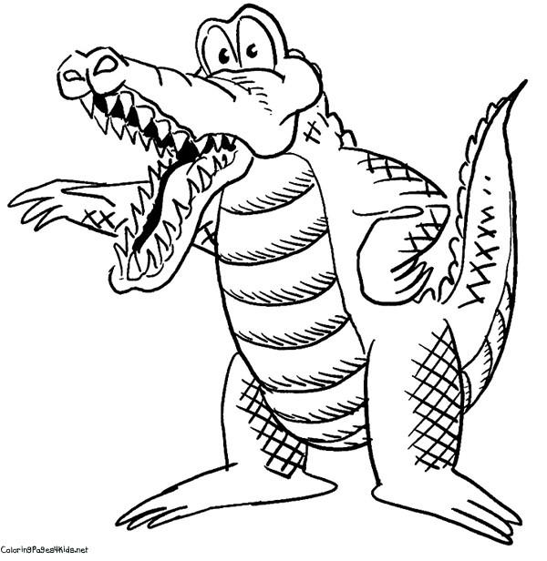 Coloriage et dessins gratuits Alligator dessin animé pour enfant à imprimer