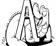 Coloriage Alligator en français