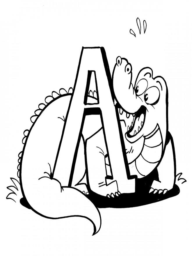 Coloriage et dessins gratuits Alligator en français à imprimer