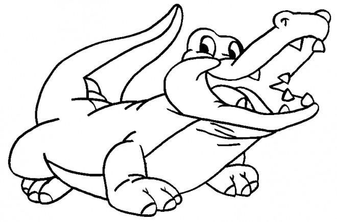 Coloriage et dessins gratuits Alligator en riant à imprimer