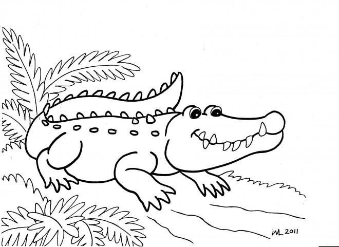 Coloriage et dessins gratuits Alligator facile à imprimer