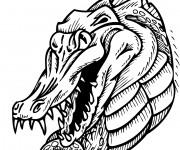 Coloriage Alligator féroce