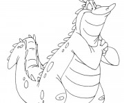 Coloriage Alligator heureux