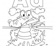 Coloriage Alligator humoristique