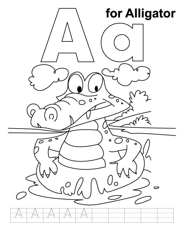 Coloriage et dessins gratuits Alligator humoristique à imprimer
