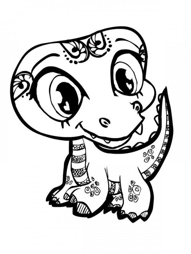 Coloriage et dessins gratuits Alligator mignonne à imprimer