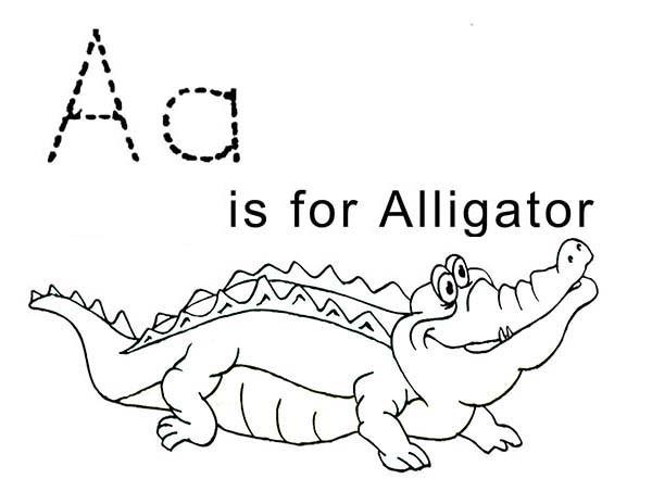 Coloriage et dessins gratuits Alligator pour enfant à imprimer