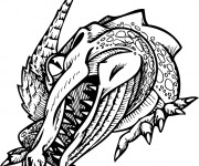 Coloriage Alligator qui fait peur