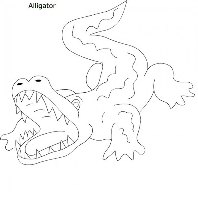 Coloriage et dessins gratuits Alligator simple à imprimer