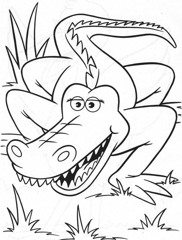 Coloriage et dessins gratuits Alligator sortant du fleuve à imprimer