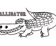 Coloriage Alligator souriant