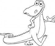Coloriage Alligator sympathique qui marche