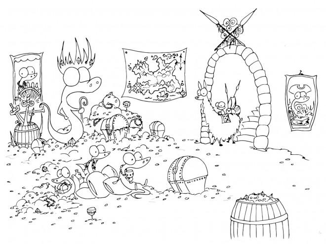 Coloriage et dessins gratuits Alligators pirates à imprimer