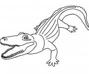 Coloriage Crocodile la coste