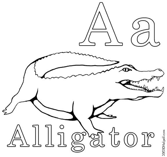 Coloriage et dessins gratuits Crocodile simple à imprimer