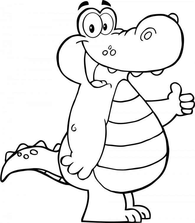 Coloriage et dessins gratuits Petit Alligator à imprimer