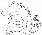 Coloriage Petit Crocodile à télécharger