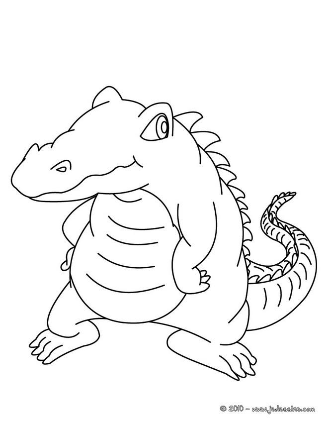 Coloriage et dessins gratuits Petit Crocodile à télécharger à imprimer
