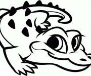 Coloriage Petit Crocodile mignon