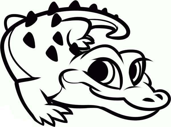 coloriage petit crocodile mignon dessin gratuit  u00e0 imprimer