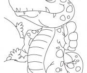 Coloriage Un petit Alligator confiant