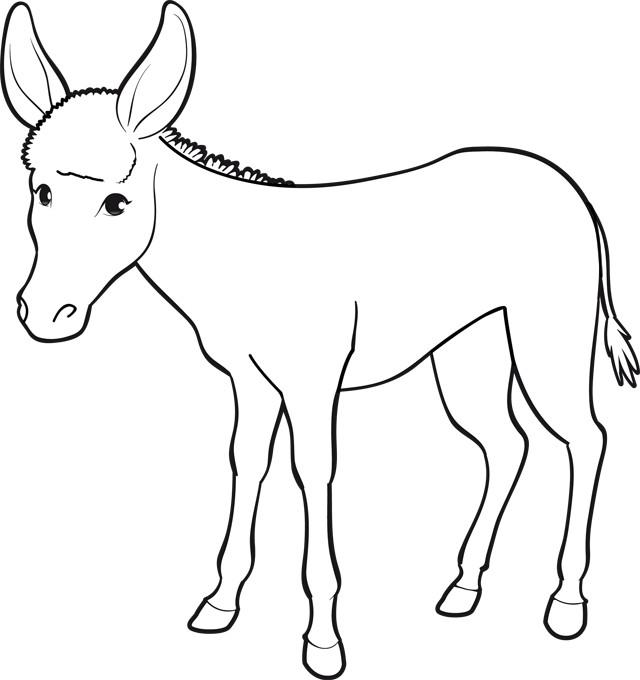 Coloriage âne Dessin Dessin Gratuit à Imprimer