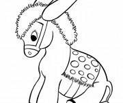 Coloriage et dessins gratuit Âne peluche à imprimer