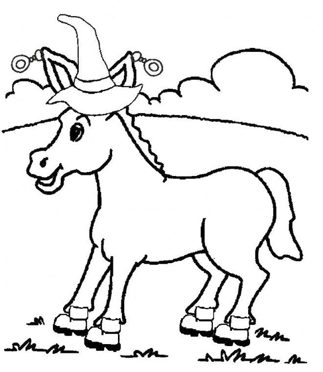 Coloriage et dessins gratuits Le chapeau d'âne à imprimer